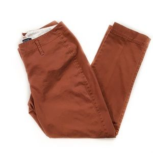 Lands' End • Petite Pumpkin Orange Ankle Pants